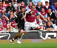 West Ham United/Charlton Athletic Premier League 19.08.06<br />Photo: Tim Parker Fotosports International<br />Lee Bowyer West Ham United & Bryan Hughes Charlton Athletic 2006/07