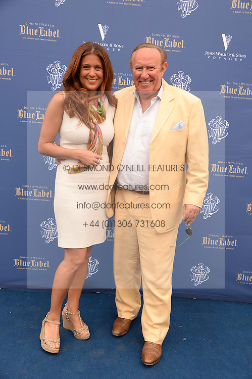 The Johnnie Walker Blue Label and David Gandy Drinks Reception aboard John Walker & Sons Voyager, St.Georges Stairs Tier, Butler's Wharf Pier, London, UK on 16th July 2013.<br /> Picture Shows:-Andrew Neil and