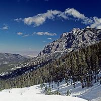 Mount Charleston rises above Las Vegas Ski Resort.