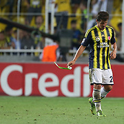 Fenerbahce's Emre Belozoglu during the UEFA Champions League Play-Offs First leg soccer match Fenerbahce between Arsenal at Sukru Saracaoglu stadium in Istanbul Turkey on Wednesday 21 August 2013. Photo by Aykut AKICI/TURKPIX