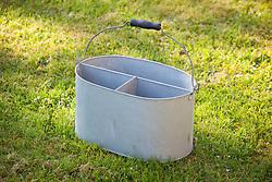 Small galvanised cutting bucket