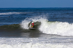 Caio Ibelli of Brazil advances in 1st to Round 3 from Round 2 Heat 6 of the Hawaiian Pro at Haleiwa, Oahu, Hawaii, USA