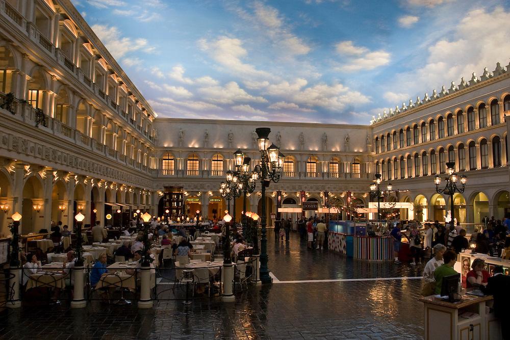 Piazza San Marco at The Venetian Hotel, Las Vegas, Nevada, USA.