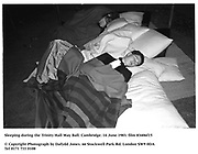Sleeping during the Trinity Hall May Ball. Cambridge. 14 June 1983. film 83406f15<br />© Copyright Photograph by Dafydd Jones<br />66 Stockwell Park Rd. London SW9 0DA<br />Tel 0171 733 0108