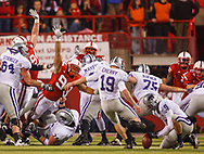 Ndamukong Suh tries to block a field goal attempt during Nebraska's 17-3 win over Kansas State on Nov. 21, 2009 at Memorial Stadium in Lincoln, Neb.. ©Aaron Babcock