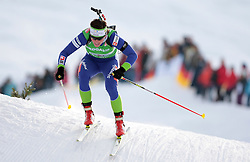 Andreja Mali of Slovenia during the relay race of the second stage of the e.on Ruhrgas IBU Biathlon World Cup on Sunday December the 13th, 2009 in Hochfilzen - PillerseeTal, Austria.  (Photo by Pierre Teyssot / Sportida.com)