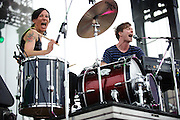 Matt and Kim performing at The Bamboozle in East Rutherford, New Jersey on May 2, 2010.