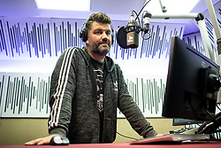 Portrait of Jure Sesek, speaker at Radio Ognjisce, on February 18, 2019 in Radio Ognjisce, Ljubljana - Sentvid, Slovenia. Photo by Vid Ponikvar / Sportida