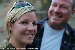 Saturday night party at Cooks Corner after day one of the Born Free Vintage Chopper and Classic Motorcycle Show. Trabuco, CA. USA. June 27, 2014.  Photography ©2014 Michael Lichter.