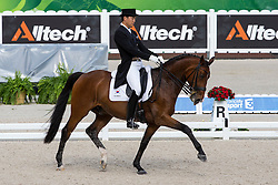 Dong Seon Kim, (KOR), Bukowski - Grand Prix Team Competition Dressage - Alltech FEI World Equestrian Games™ 2014 - Normandy, France.<br /> © Hippo Foto Team - Leanjo de Koster<br /> 25/06/14