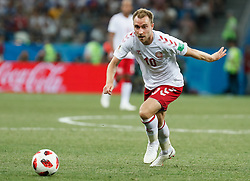 July 1, 2018 - Nizhny Novgorod, Russia - Christian Eriksen of Denmark national team during the 2018 FIFA World Cup Russia Round of 16 match between Croatia and Denmark on July 1, 2018 at Nizhny Novgorod Stadium in Nizhny Novgorod, Russia. (Credit Image: © Mike Kireev/NurPhoto via ZUMA Press)