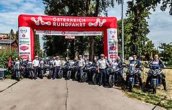 04.07.2017, Pöggstall, AUT, Ö-Tour, Österreich Radrundfahrt 2017, 2. Etappe von Wien nach Pöggstall (199,6km), im Bild Poliziste und Polizei Motorräder // during the 2nd stage from Vienna to Pöggstall (199,6km) of 2017 Tour of Austria. Pöggstall, Austria on 2017/07/04. EXPA Pictures © 2017, PhotoCredit: EXPA/ JFK
