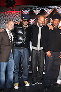 Dereck Dudley, Q-Tip, Common, and Sway at The Smirnoff Press Conference announcing Music Series held at Element on February 26, 2008