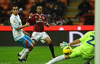 "ill gol di robinho (Milan) goal celebration<br /> Milano 6/11/2011 Stadio ""Giuseppe Meazza""<br /> Serie A 2011/2012<br /> Football Calcio Milan Vs Catania<br /> Foto Insidefoto Alessandro Sabattini"