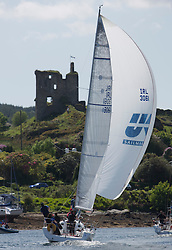 Final days' racing at the Silvers Marine Scottish Series 2016, the largest sailing event in Scotland organised by the  Clyde Cruising Club<br /> <br /> Racing on Loch Fyne from 27th-30th May 2016<br /> <br /> Tarbert Harbour, IRL3061, Fools Gold, Robert McConnell, A35<br /> <br /> Credit : Marc Turner / CCC<br /> For further information contact<br /> Iain Hurrel<br /> Mobile : 07766 116451<br /> Email : info@marine.blast.com<br /> <br /> For a full list of Silvers Marine Scottish Series sponsors visit http://www.clyde.org/scottish-series/sponsors/