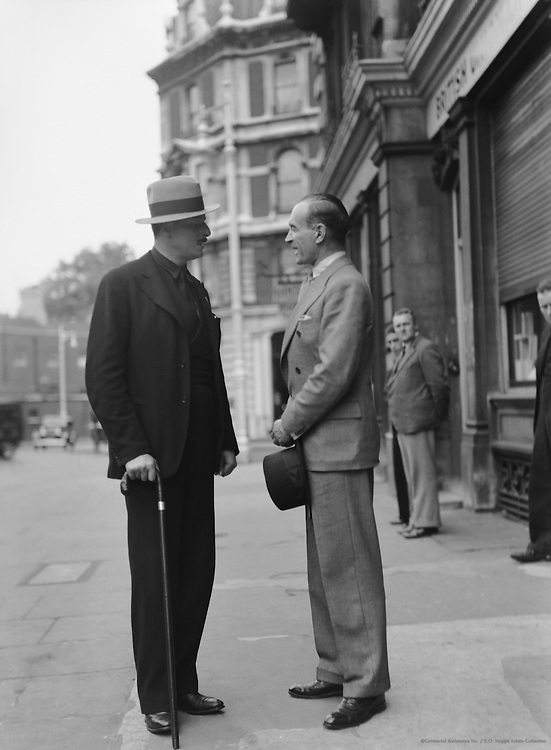 Sir Oswald Mosely and Captain Hill-Mitchelson, British Union of Fascists, England, circa 1933