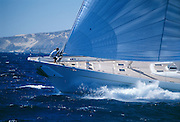 Hyperion generated 210 tons of pressure on the mast during this sail in the Pacific near Cabo San Lucas