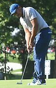 ST. LOUIS, MO - AUGUST 09: Jonathan Vegas of Venezuela putts on the #10 green during the first round of the PGA Championship on August 09, 2018, at Bellerive Country Club, St. Louis, MO.  (Photo by Keith Gillett/Icon Sportswire)