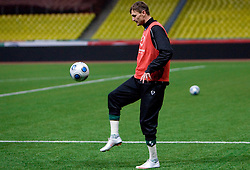 Milivoje Novakovic at practice of Slovenian team a day before FIFA World Cup 2010 Qualifying match between Russia and Slovenia, on November 13, 2009, in Stadium Luzhniki, Moscow, Russia.  (Photo by Vid Ponikvar / Sportida)