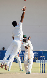Zimbabwe batsman Donald Tiripano in action during the third day of the 100th test match for Zimbabwe played in a series of two matches with Sri Lanka at Harare Sports Club 31 October 2016.