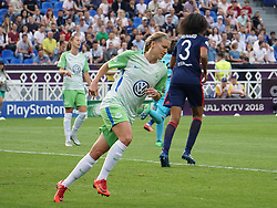 May 24, 2018 - Kiev, Ukraine - Lara Dickenmann of VFL Wolfsburg.during the UEFA Women's Champions League Final match between VFL Wolfsburg and Olympique Lyonnais  at Kyiv, Ukraine on 24 May 2018. (Credit Image: © Kieran Galvin/NurPhoto via ZUMA Press)