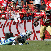 San Francisco 49ers tight end Vernon Davis (85) during an NFL football game between the Dallas Cowboys and the San Francisco 49ers at Candlestick Park on Sunday, Sept. 18, 2011 in San Francisco, CA.  (Photo/Alex Menendez)