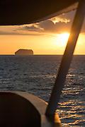 Sunrise on board a cruise ship, Galapagos Islands, Ecuador, South America