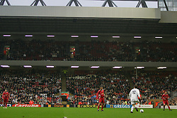LIVERPOOL, ENGLAND - SUNDAY MARCH 27th 2005: Celebrity XI's Marcus Patrick on the ball during the Tsunami Soccer Aid match at Anfield. (Pic by David Rawcliffe/Propaganda)