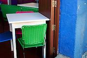 Restaurant seating, Oaxaca.