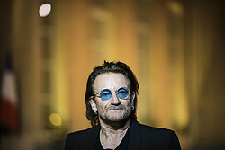 Board of Directors member of campaigning and advocacy organization ONE, Irish lead singer of rock band U2, Bono at Elysee Palace in Paris on september 10, 2018. Photo by ELIOT BLONDET/ABACAPRESS.COM