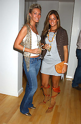 Left to right, OLIVIA BUCKINGHAM and SERENA NIKKHAH at the launch of Friday Nights at Mamilanji - Chelsea's newest and most exclusive members club, 107 Kings Road, London SW3 hosted by Charlie Gilkes and Duncan Stirling held on 29th July 2005.<br /><br />NON EXCLUSIVE - WORLD RIGHTS