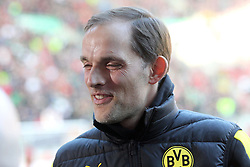 20.03.2016, WWK Arena, Augsburg, GER, 1. FBL, FC Augsburg vs Borussia Dortmund, 27. Runde, im Bild Trainer Thomas Tuchel ( Borussia Dortmund ) // during the German Bundesliga 27th round match between FC Augsburg and Borussia Dortmund at the WWK Arena in Augsburg, Germany on 2016/03/20. EXPA Pictures © 2016, PhotoCredit: EXPA/ Eibner-Pressefoto/ Langer<br /> <br /> *****ATTENTION - OUT of GER*****