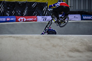 at Round 2 of the 2019 UCI BMX Supercross World Cup in Manchester, Great Britain