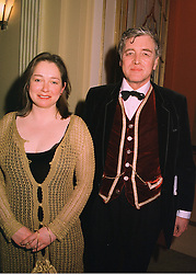 LORD SUDELEY and MRS MARGARITA KELLETT, at a reception in London on 16th March 1998.MGB 76