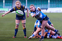 George Roberts of DMP Durham Sharks passes back from a ruck - Mandatory by-line: Nick Browning/JMP - 09/01/2021 - RUGBY - Sixways Stadium - Worcester, England - Worcester Warriors Women v DMP Durham Sharks - Allianz Premier 15s