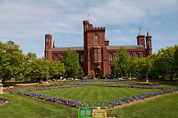 Washington DC: Smithsonian headquarters The Castle on the Mall. Photo copyright Lee Foster.  Photo # washdc102689