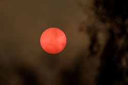 Hazy cloud around a very watery sun in South Lanarkshire.<br /> <br /> (c) Andrew Wilson | Edinburgh Elite media