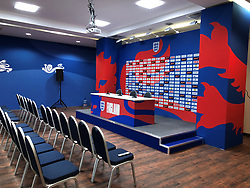 General view of England's media centre at Repino Cronwell Park, Russia.
