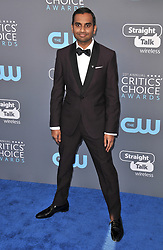 Aziz Ansari at The 23rd Annual Critics' Choice Awards held at the Barker Hangar on January 11, 2018 in Santa Monica, CA, USA (Photo by Sthanlee B. Mirador/Sipa USA)