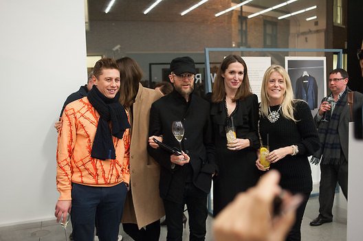 ADAM SHAPIRO, Editor of Wallpaper: Tony Chambers and architect Annabelle Selldorf host drinks to celebrate the collaboration between the architect and three of Savile Row's finest: Hardy Amies, Spencer hart and Richard James. Hauser and Wirth Gallery. ( Current show Isa Genzken. ) savile Row. London. 9 January 2012.