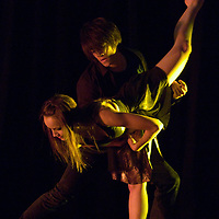 """LIVERMORE, CA - MAY 14: Ashlyn McPhillips and Jerry Chan of the Las Positas Dance Department perform during the dance concert """"Live!"""" at Las Positas College on May 14, 2011 in Livermore, California. The duo performed to the song """"Don't Let Me Down."""""""