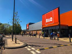 B&Q at Springkerse Retail Park. Stirling area lockdown 6/5/2020.