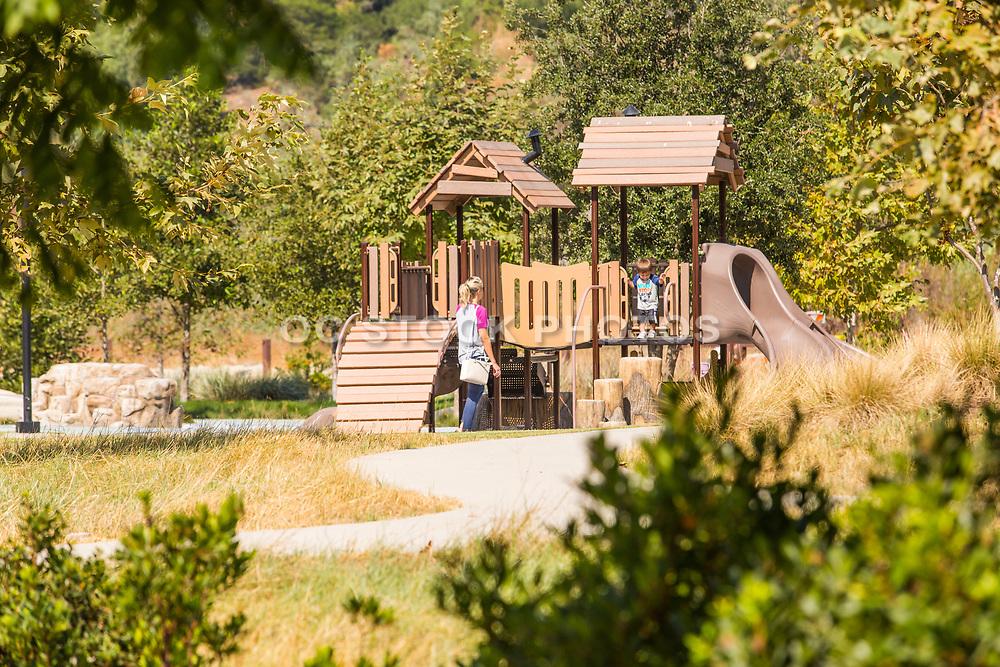 Mom and Son at Sendero Park in Rancho Mission Viejo California