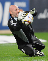 20100125: LISBON, PORTUGAL - 7th Charity Football Match against Poverty: SL Benfica All Stars vs Zidane & Kaka Friends. All the money rose from ticket sales and donations will go to the victims of Haiti Earthquake. In picture: Barthez. PHOTO: Alexandre Pona/CITYFILES