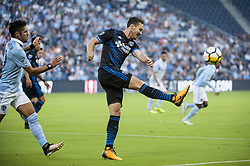 August 9, 2017 - Kansas City, Kansas, United States - Kansas City, KS - Wednesday August 9, 2017: Francois Affolter during a Lamar Hunt U.S. Open Cup Semifinal match between Sporting Kansas City and the San Jose Earthquakes at Children's Mercy Park. (Credit Image: © Amy Kontras/ISIPhotos via ZUMA Wire)