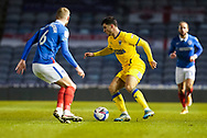 Ryan Longman of AFC Wimbledon in action during the EFL Sky Bet League 1 match between Portsmouth and AFC Wimbledon at Fratton Park, Portsmouth, England on 19 January 2021.
