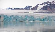 14th-July-glacier in Krossfjord, western Spitsbergen, Svalbard in early August 2012.