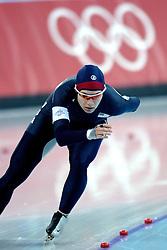 11-02-2006 SCHAATSEN: OLYMPISCHE WINTERSPELEN: 3000 METER DAMES: TORINO<br /> Catherine Raney (USA)<br /> ©2006-WWW.FOTOHOOGENDOORN.NL