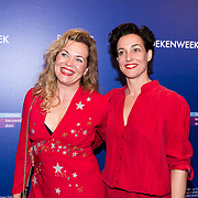 NLD/Amsterdam/20190322  - Boekenbal 2019,  Roos Schlikker (L) en ........
