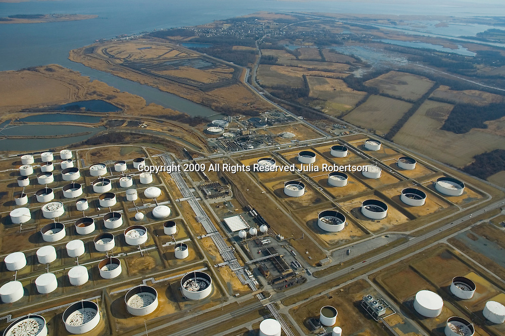 Drone View of Delaware City Refinery